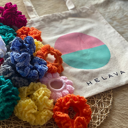 CROCHET SCRUNCHIES + TOTE COMBO! (SOLD OUT!)