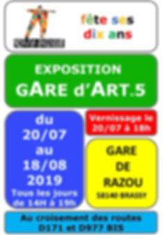 AFFICHE  EXPOSITION GARE DE RAZOU 2019_b