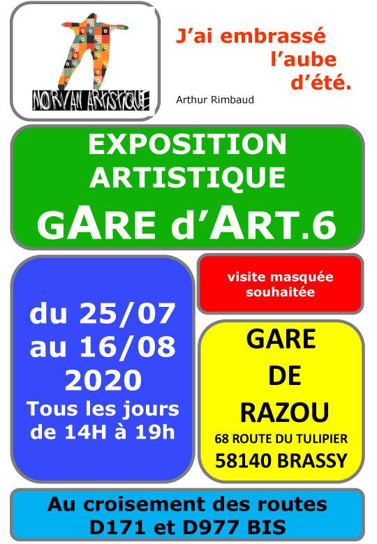 AFFICHE  EXPOSITION GARE DE RAZOU 2020.j