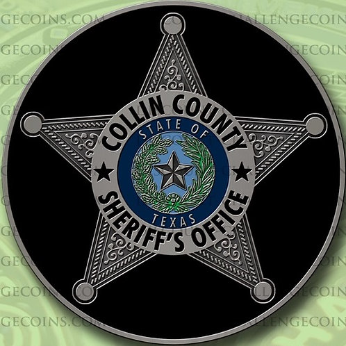 """The S.H.E.R.I.F.F. Fund/Collin County Sheriff's Star 2"""" Challenge Coin"""