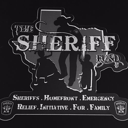 The S.H.E.R.I.F.F. Fund Window Decal