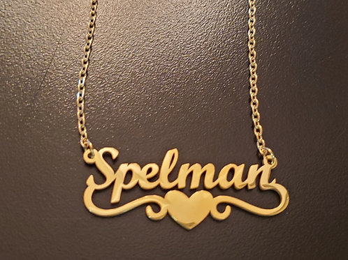 My Author's Spelmany Necklace - Gold