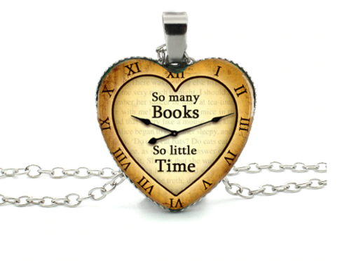Time For Books Necklace - Beige