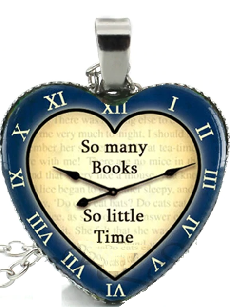 Time For Books Necklace - Blue