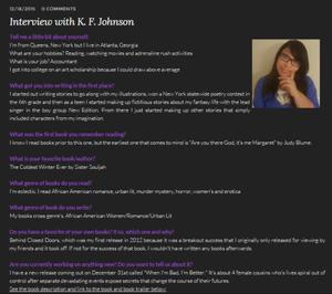 Kellie Weebly Website Interview