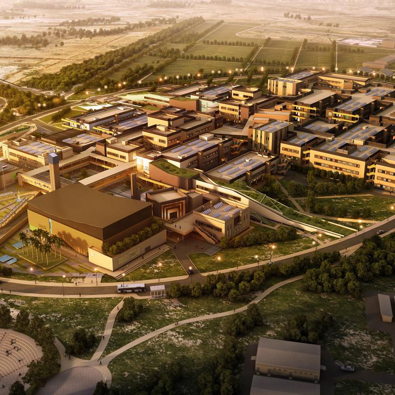 Aereal View Al Qasim University Compress
