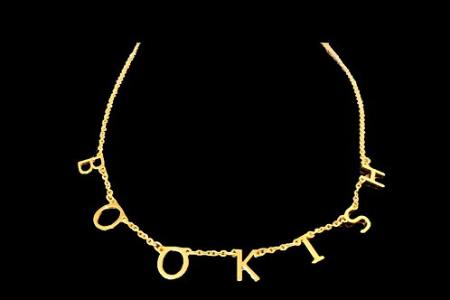 Bookish Initials I-Necklace - Gold