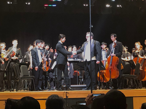 "The premiere of ""Sketches from Salzburg"" with the West Windsor-Plainsboro High School South Philharmonia Orchestra and Maestro Robert ""Bob"" Peterson. (February 2019)"