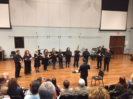 """Conducting """"Pray for the Peace of Jerusalem"""" at Westminster Conservatory of Music in Princeton, New Jersey. (May, 2017)"""