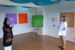 Helga and Vidar prepare for a pop-up exhibition2