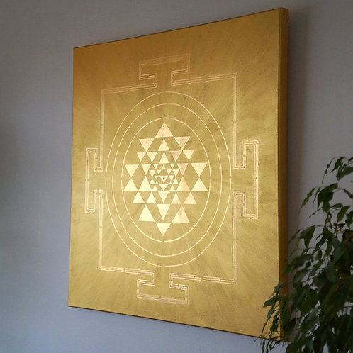 GOLD ON GOLD YANTRA PAINTING