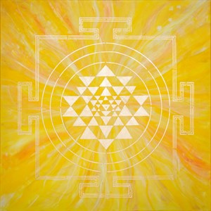 YELLOW YANTRA PAINTING