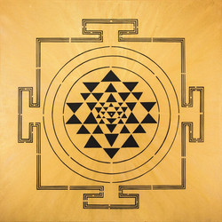 GOLD YANTRA PAINTING
