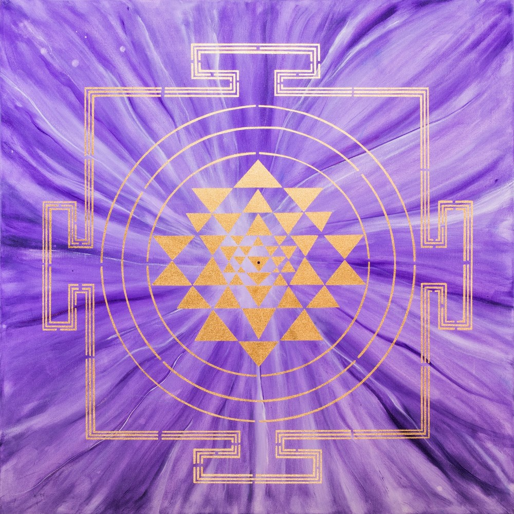VIOLET YANTRA PAINTING