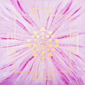 ROSE QUARTZ YANTRA PAINTING