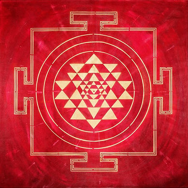 RED YANTRA PAINTING