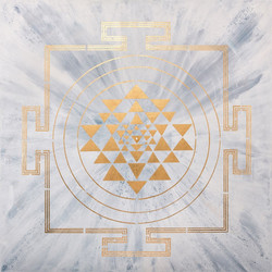 MOON YANTRA PAINTING