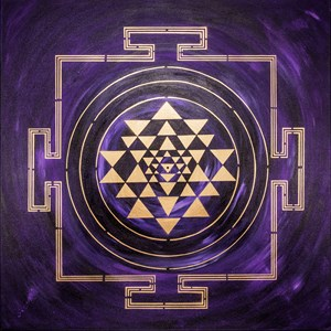 DEEP PURPLE YANTRA PAINTING