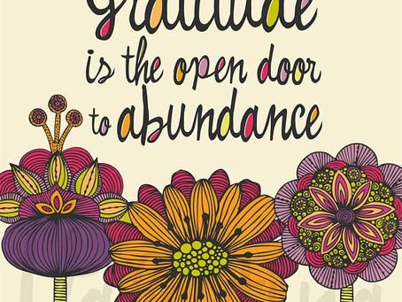 A little gratitude can go a very long way....