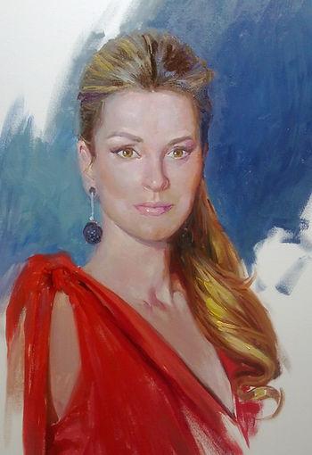 Ainoha Arteta Portrait, Retrato, Francisco Sanchis Cortés, Art, Pintor Artístico