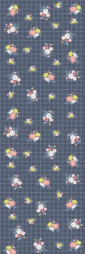 Floral com grid marinho - ver cores disponíveis aqui!