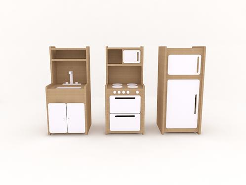 Mini cozinha (módulo unitário)