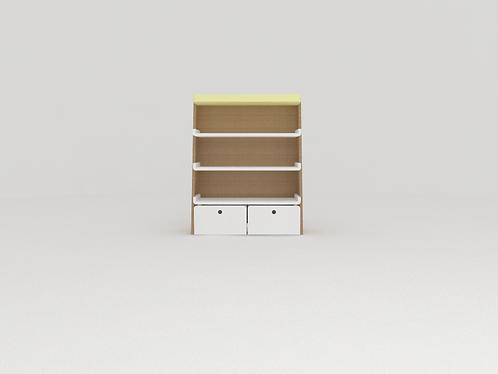 Mini estante com baús