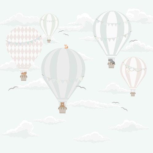 Painel balões