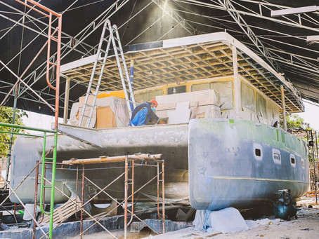 "Azura Marine's Hull #1 the Aquanima 40 ""Eclipse"" enters the final construction stage in Bali!"
