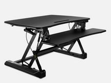 Mount It Sit-Stand Convertible Desk plus True Wireless Bluetooth Earbuds
