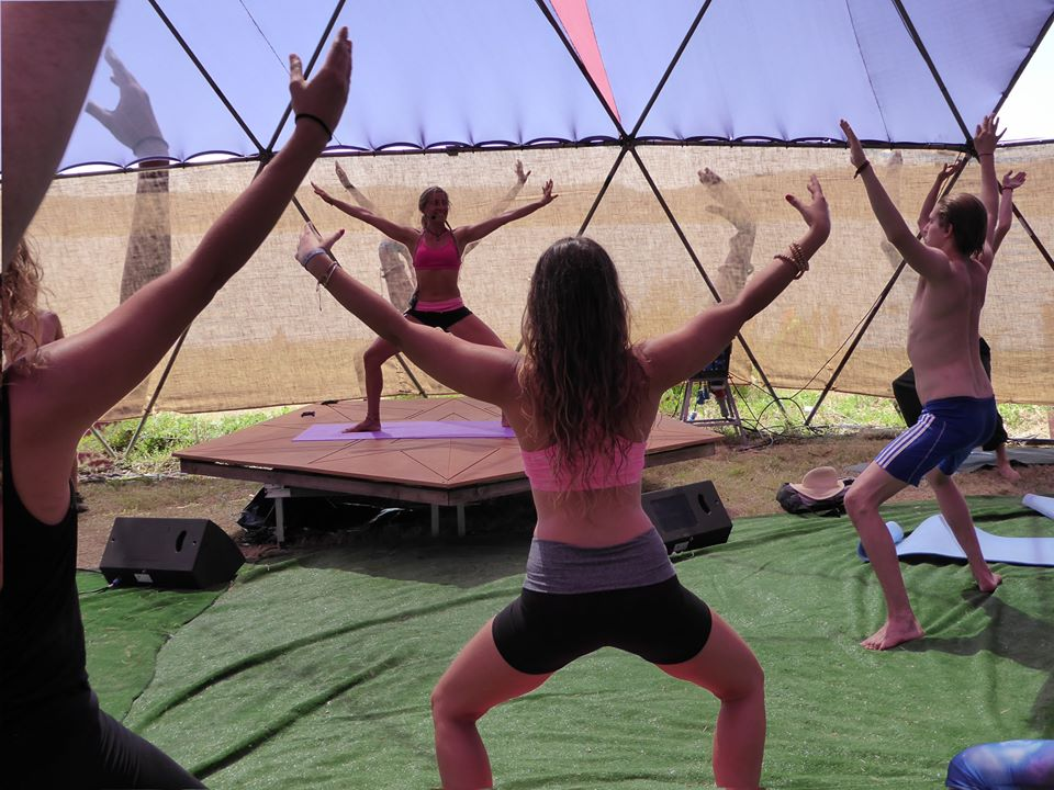 Yoga Class at KU Retreats in Ibiza
