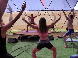 Yoga Class at KU Retreats in Ibiza