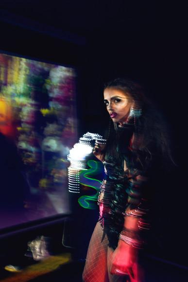 Model: Karma She  Wearing: SAINT TOMA  Make up by: Hermes Pittakos