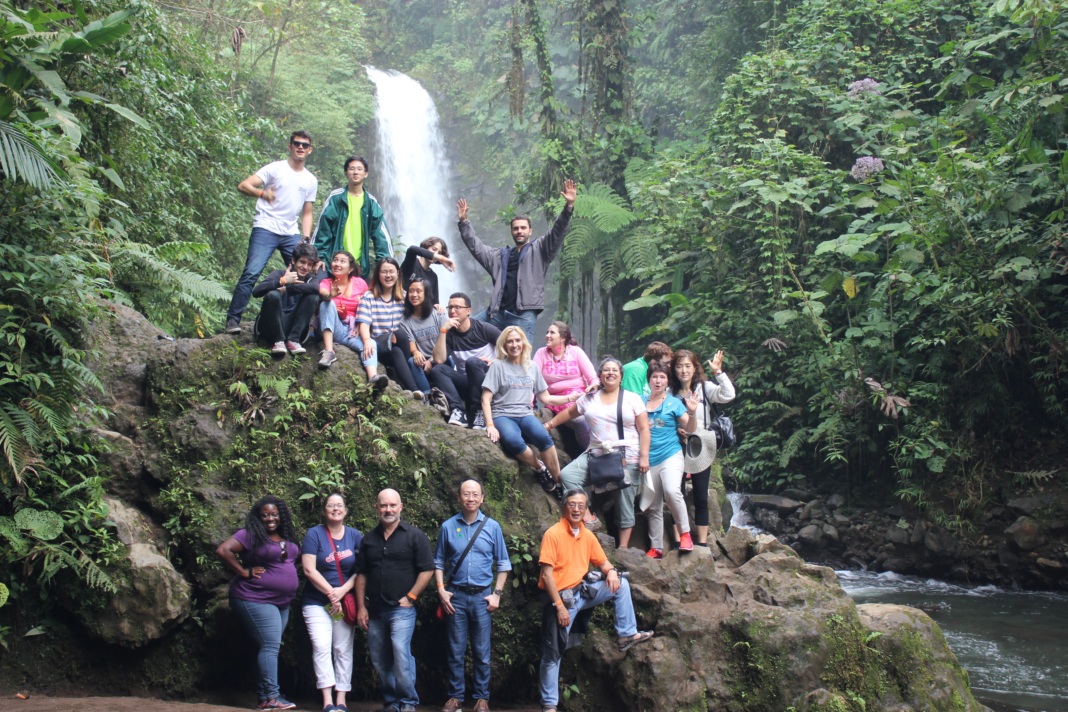 La Paz Waterfalls group photo