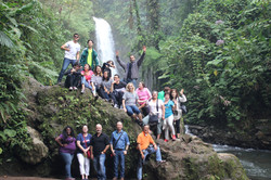 La Paz Waterfalls group photo