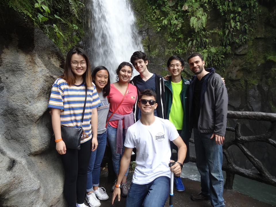 Waterfall group photo