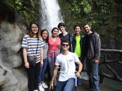 Waterfall group photo