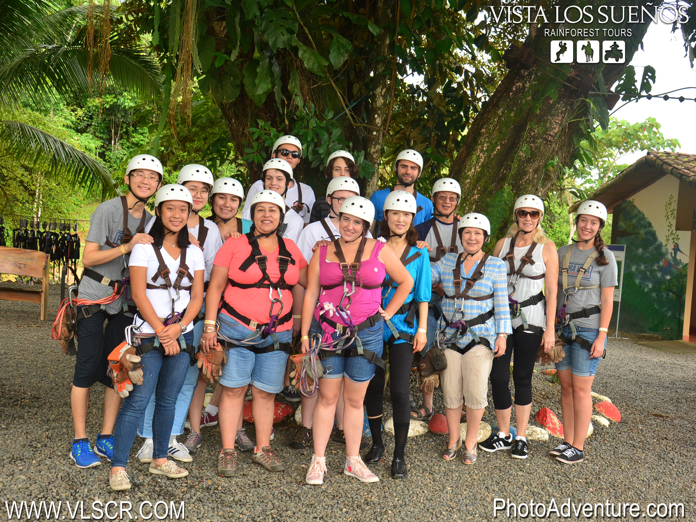Zip lining group photo