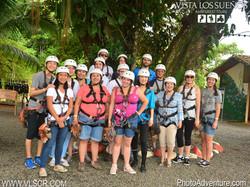 Zip lining group photo