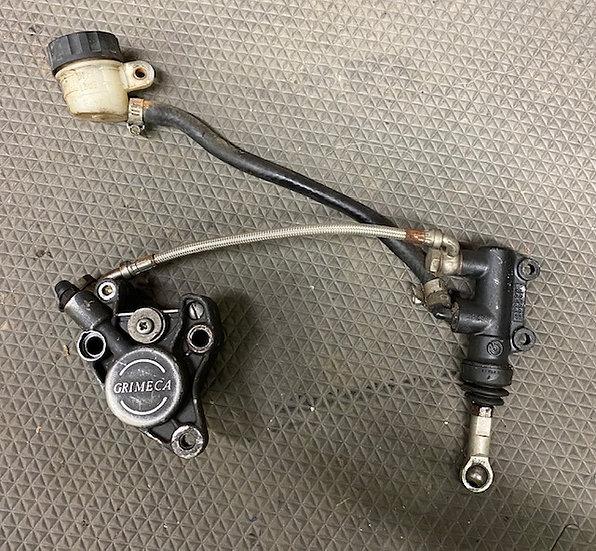 1988-1992 ATK 250 Complete Rear Brake Assembly