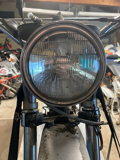 1975/1976 Yamaha DT 400 Head Light with brackets