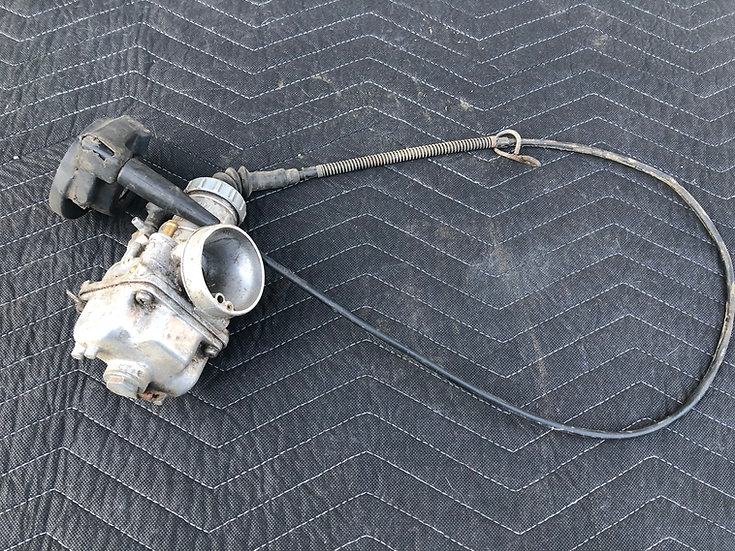 Carburetor Kawasaki KX 125 250 80's cable is bad, throttle included