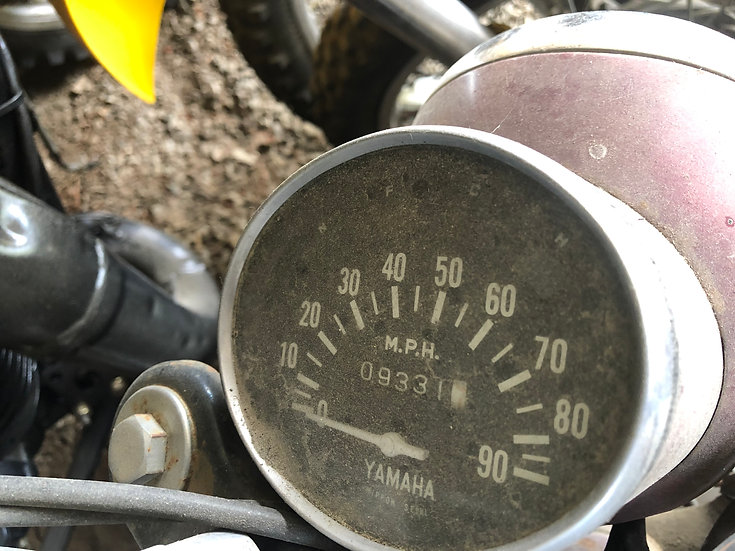 1963 Yamaha YG1-80 Enduro Head lamp and Speedo