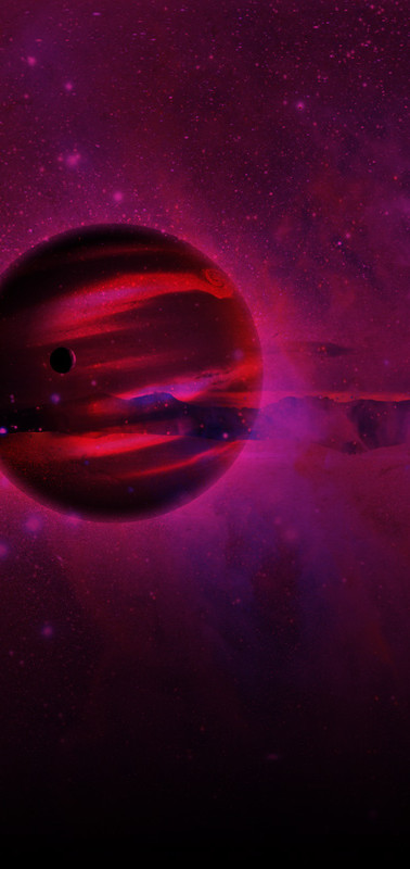 Does a giant moon the size of Neptune orbit a distant exoplanet?