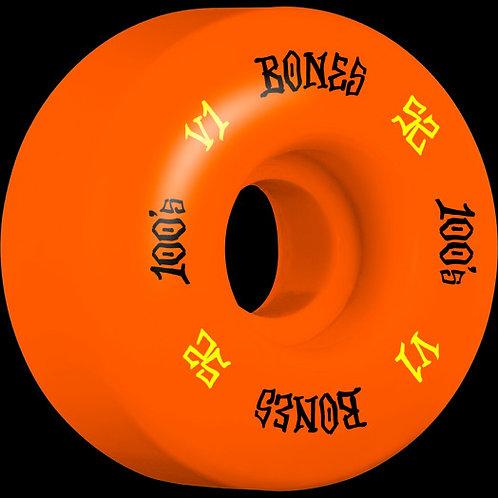 Bones 100's Orange 52mm 4 Pack