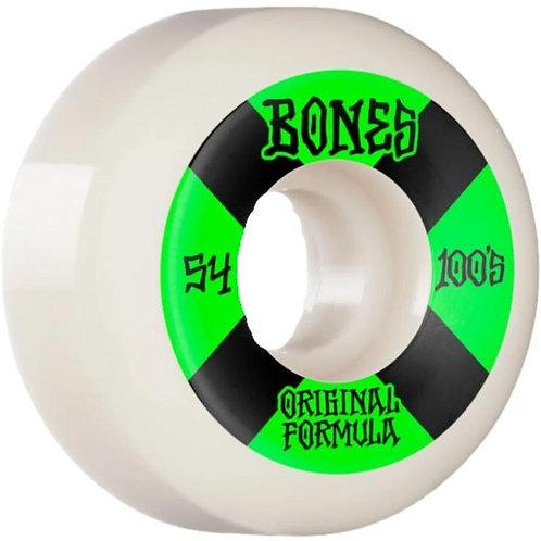Bones 100's 54mm Sidecut 4 Pack