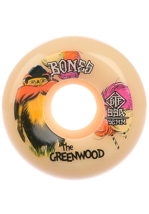 Bones Greenwood Sidecut  STF  4 Pack