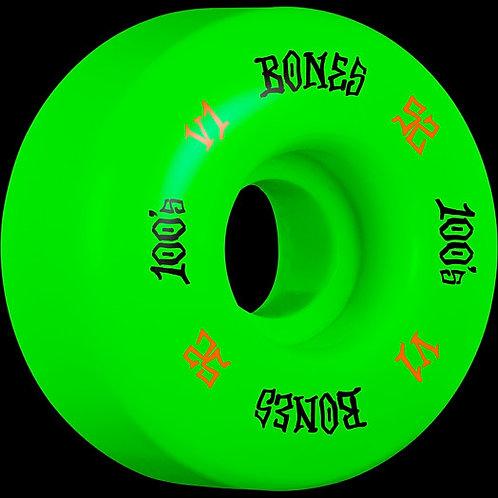 Bones 100's Green  52mm 4 Pack