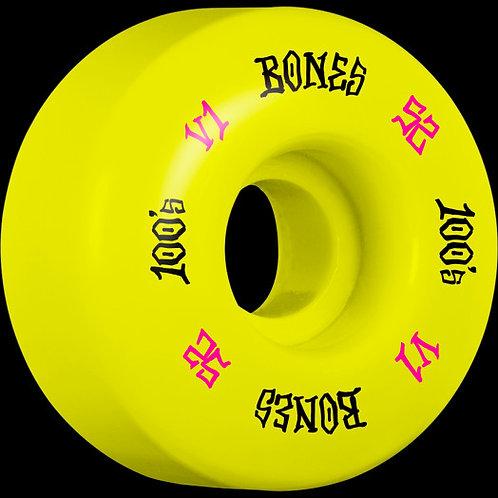 Bones 100's Yellow  52mm 4 Pack