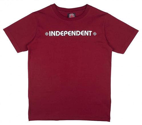 Independent Bar Cross Marroon